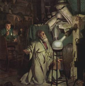 Adepten i sitt laboratorium